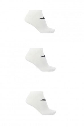 No show socks two-pack with logo od Emporio Armani