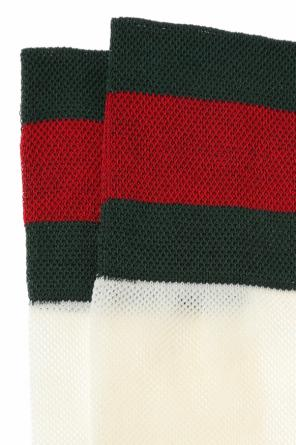 'web' stripe long socks od Gucci