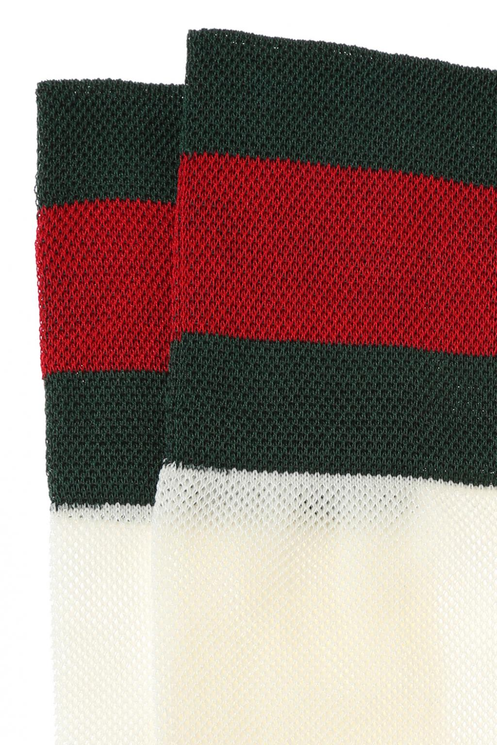 Gucci 'Web' stripe long socks