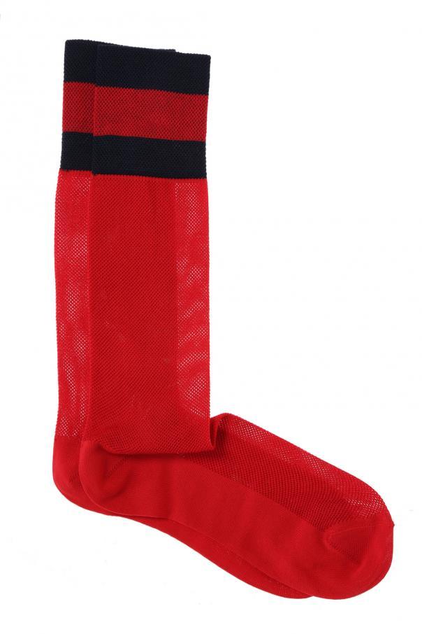 Gucci 'Web' stripe long socks