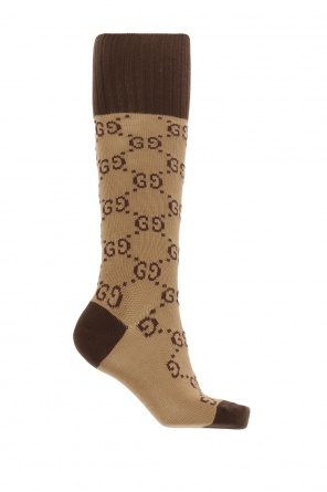 Logo-embroidered knee-high socks od Gucci