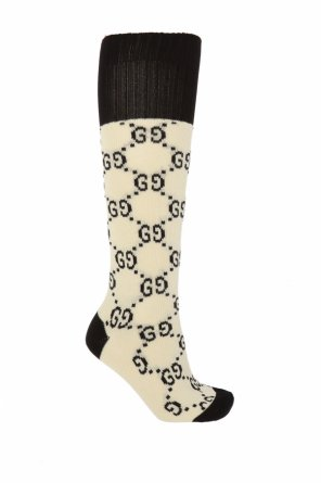 Embroidered knee socks od Gucci