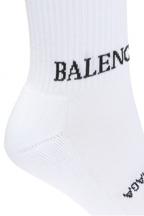 Logo-embroidered socks od Balenciaga