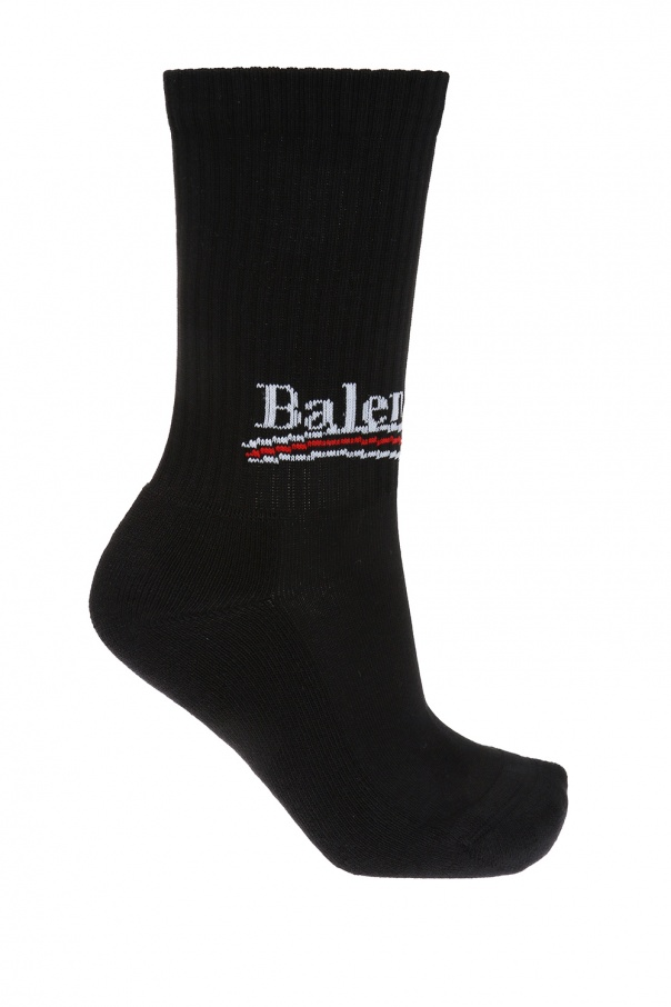 Balenciaga Logo-embroidered socks