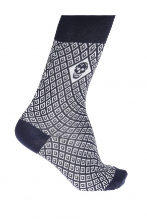 Patterned socks with skull od Alexander McQueen