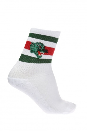 Socks with a leopard's  head motif od Gucci