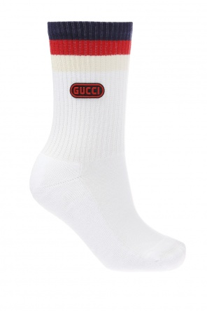 Sylvie web' striped socks od Gucci