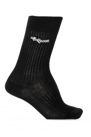 Logo-patched socks od Alexander McQueen