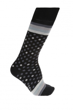 Socks with embroidered stripes and polka dot od Paul Smith