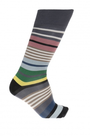 Logo socks with embroidered stripes od Paul Smith