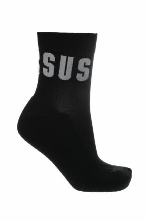 Logo-embroidered socks od Versace Versus