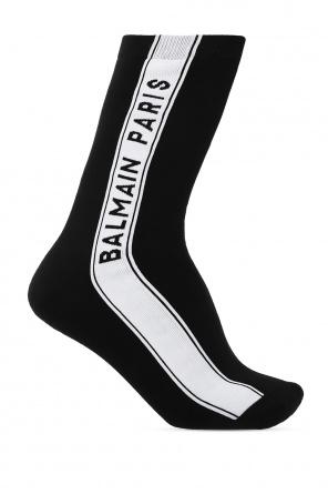 Long socks with logo od Balmain