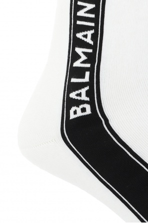Long socks with logo od Balmain
