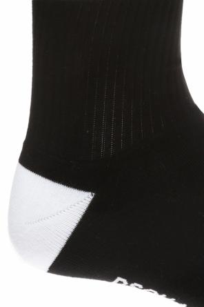 Embroidered lettering long socks od Dsquared2