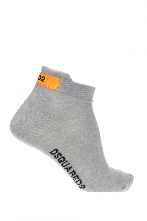 Logo-embroidered no-show socks od Dsquared2
