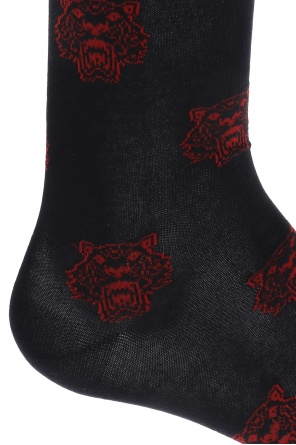 Embroidered tiger head socks od Kenzo