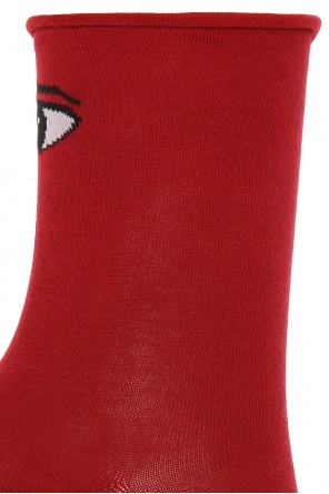 Embroidered eye motif socks od Kenzo