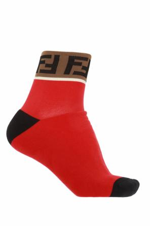 Decorative cuff socks od Fendi