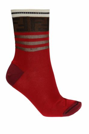 Logo-embroidered socks od Fendi