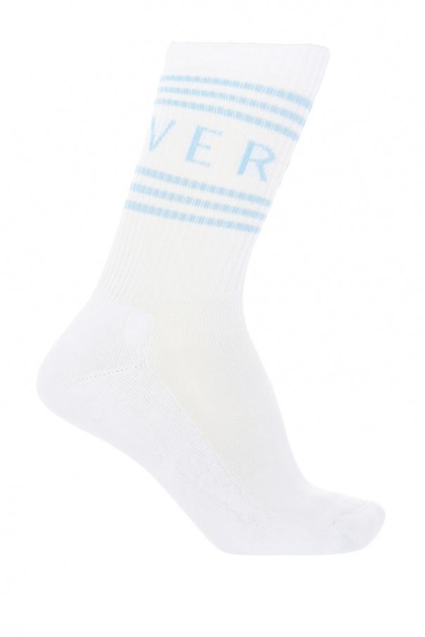 Logo-embroidered socks od Versace