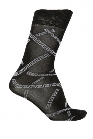 Greek pattern socks od Versace