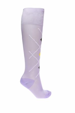 Embroidered knee-high socks od Versace