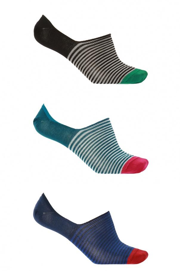 d928f7ca8fc Jacquard no-show socks 3-pack Paul Smith - Vitkac shop online