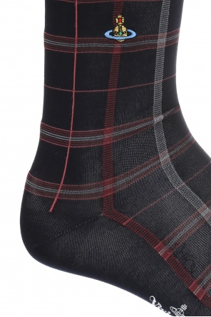 Long checked socks od Vivienne Westwood