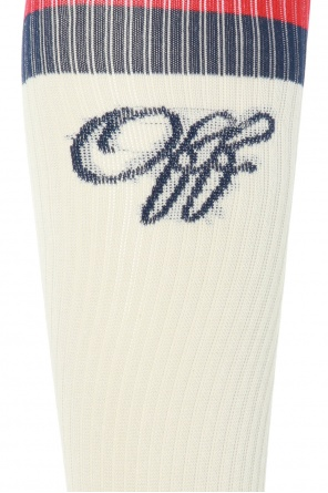 Logo-embroidered socks od Off White