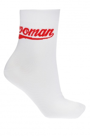 Embroidered lettering socks od Off White