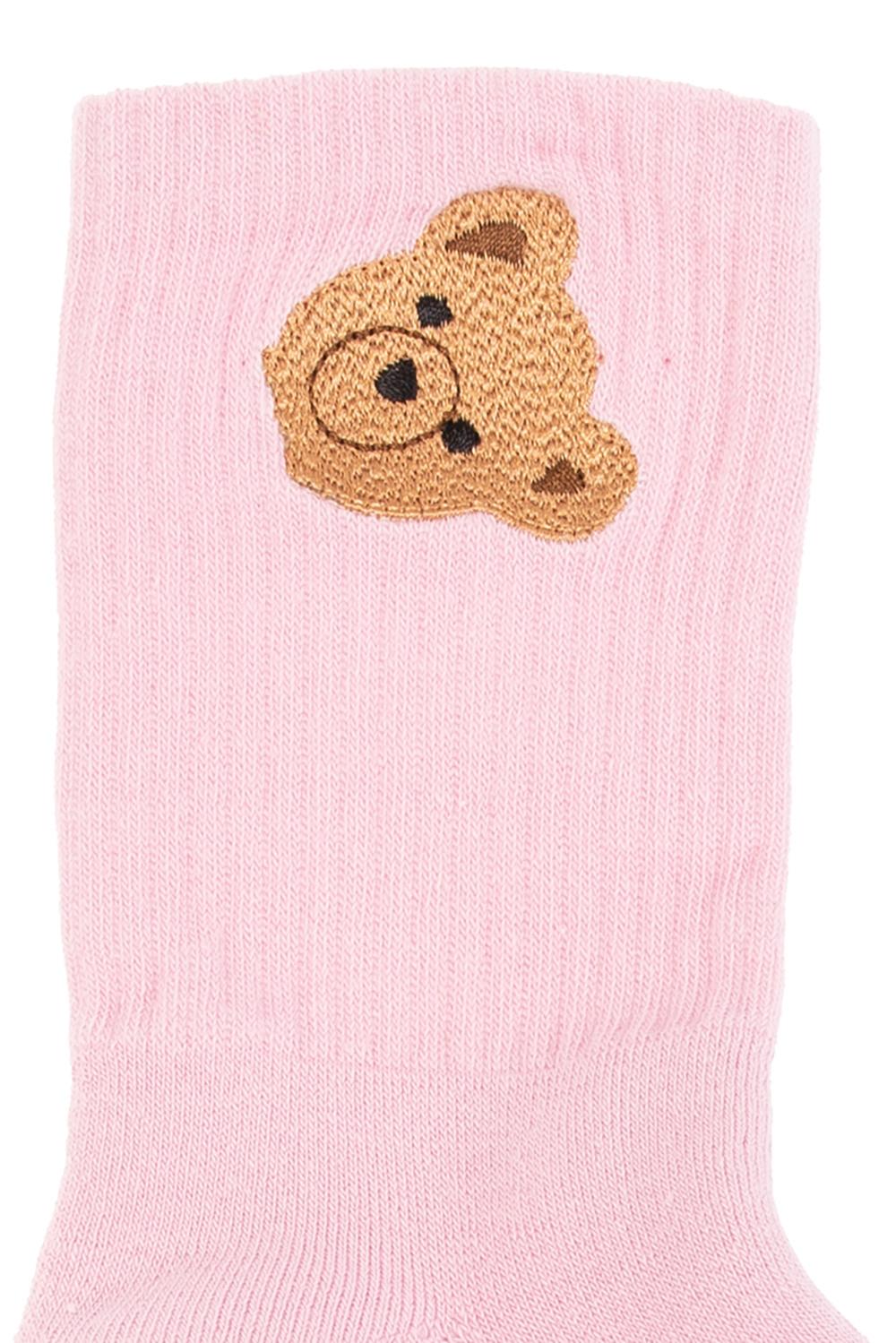 Palm Angels Kids Socks with logo