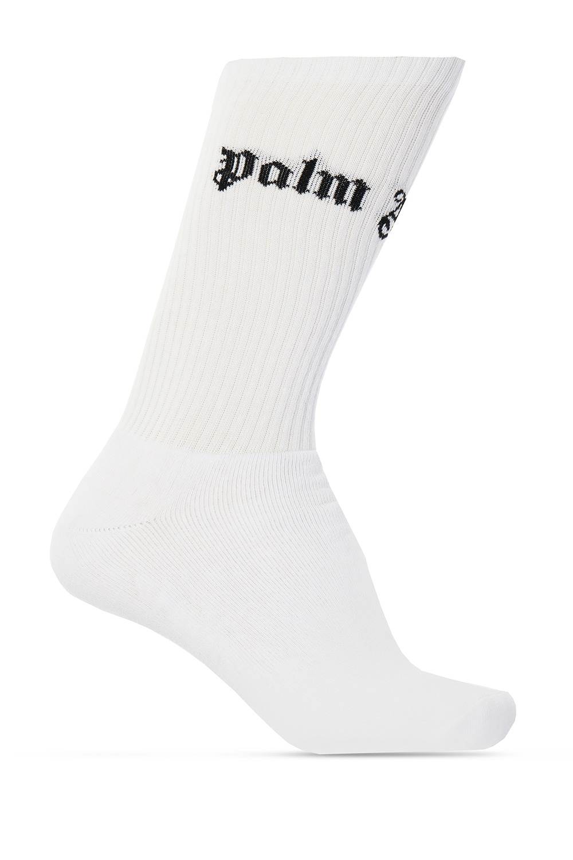 Palm Angels Logo-embroidered socks