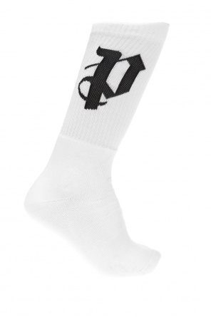 Logo-embroidered long socks od Palm Angels