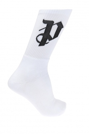 Logo-embroidered socks od Palm Angels