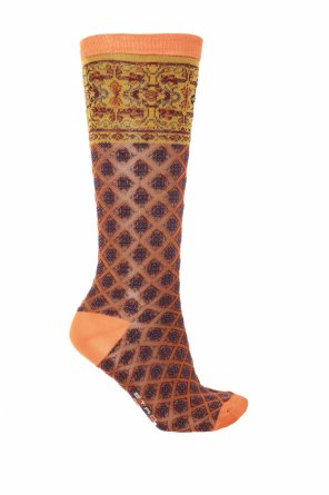 Embroidered long socks od Etro