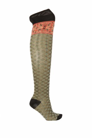 Embroidered over-the-knee socks od Etro