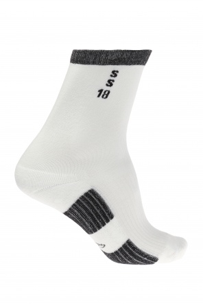 Embroidered lettering socks od Rick Owens