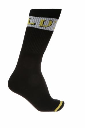 Logo-embroidered socks od Diesel