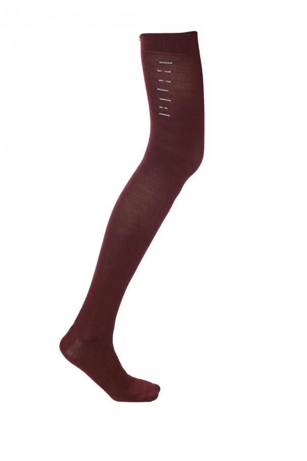 Unravel Project Knee-high socks with embroidered logo