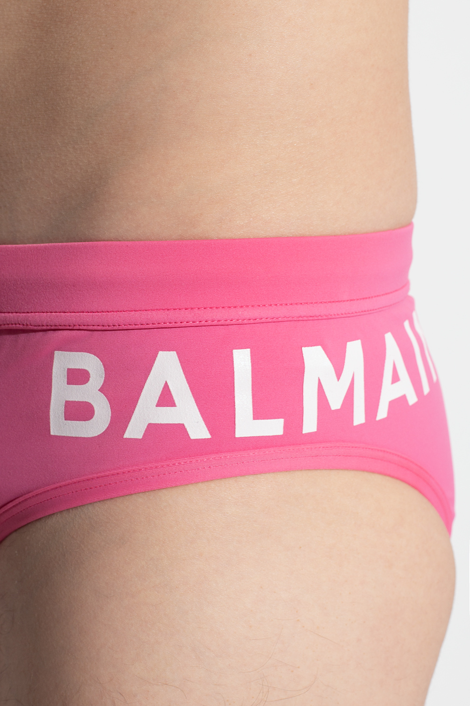Balmain Swim briefs with logo