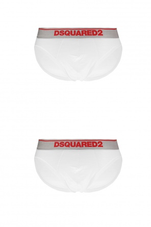 Two-pack of briefs with a logo od Dsquared2