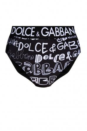 High-waisted bikini bottom od Dolce & Gabbana