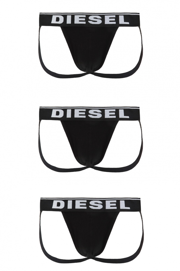 Diesel Jockstrap three-pack with logo