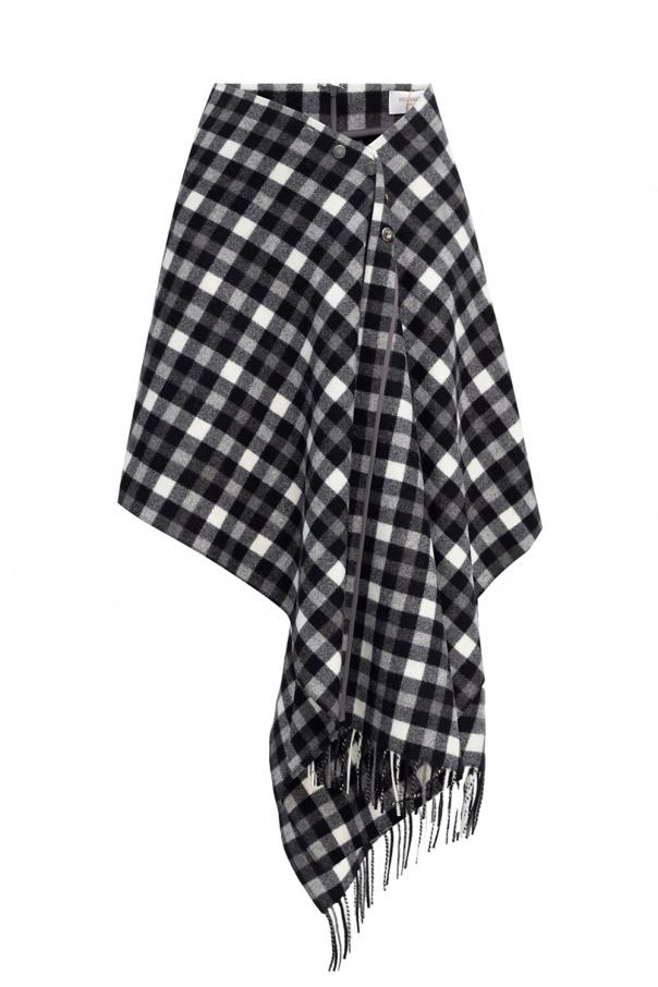 Michael Kors Checked asymmetrical skirt