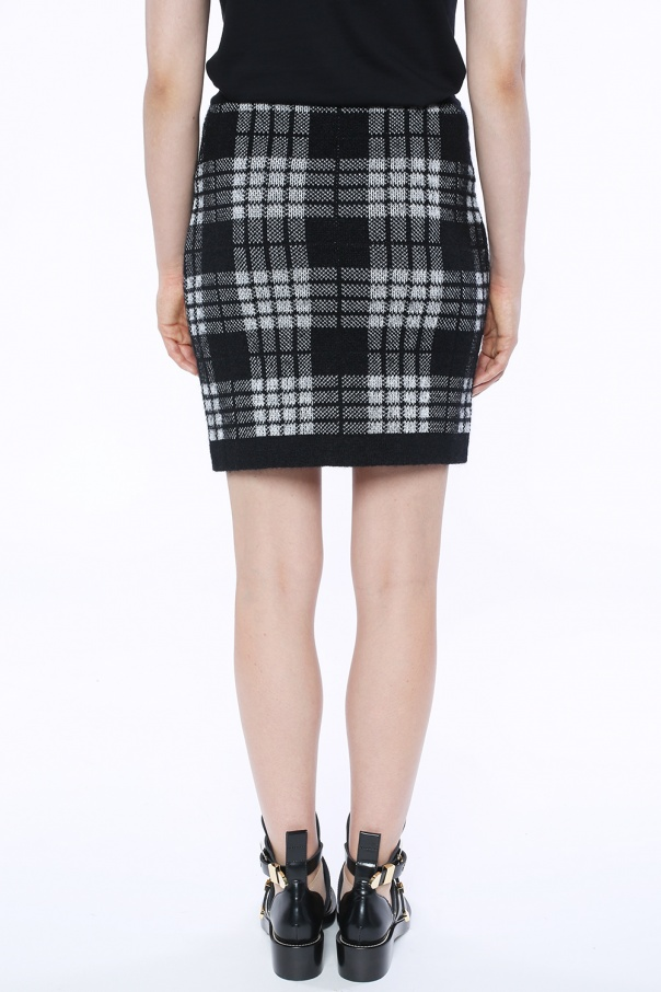 Short checked skirt od Balmain