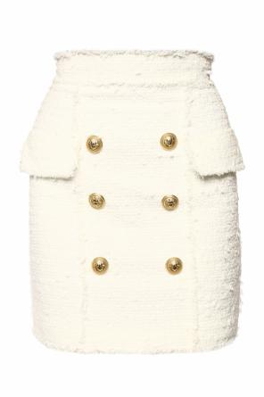 Skirt with decorative buttons od Balmain