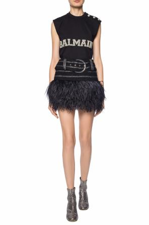 Skirt with ostrich feathers od Balmain