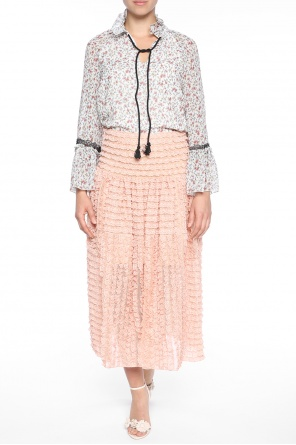Skirt with lace ruffles od Chloe