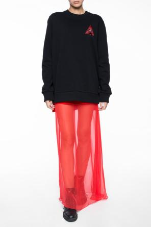 Skirt with sheer bottom od Givenchy