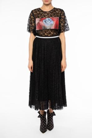 Pleated lace skirt od MSGM